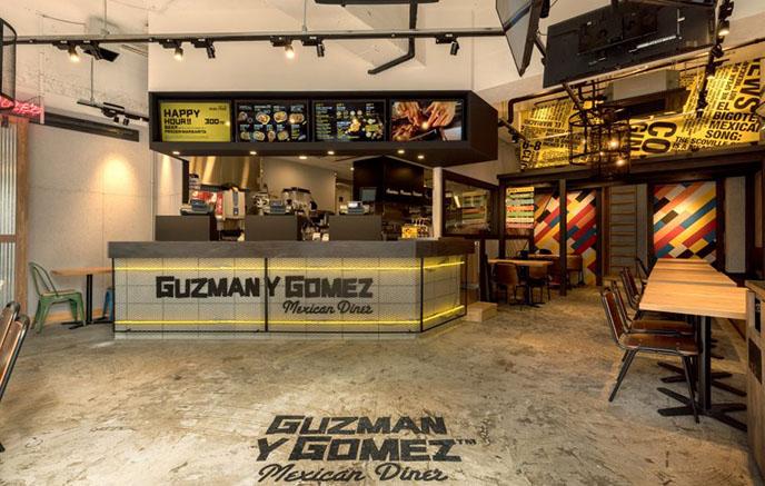 Guzman y Gomez 渋谷店店内